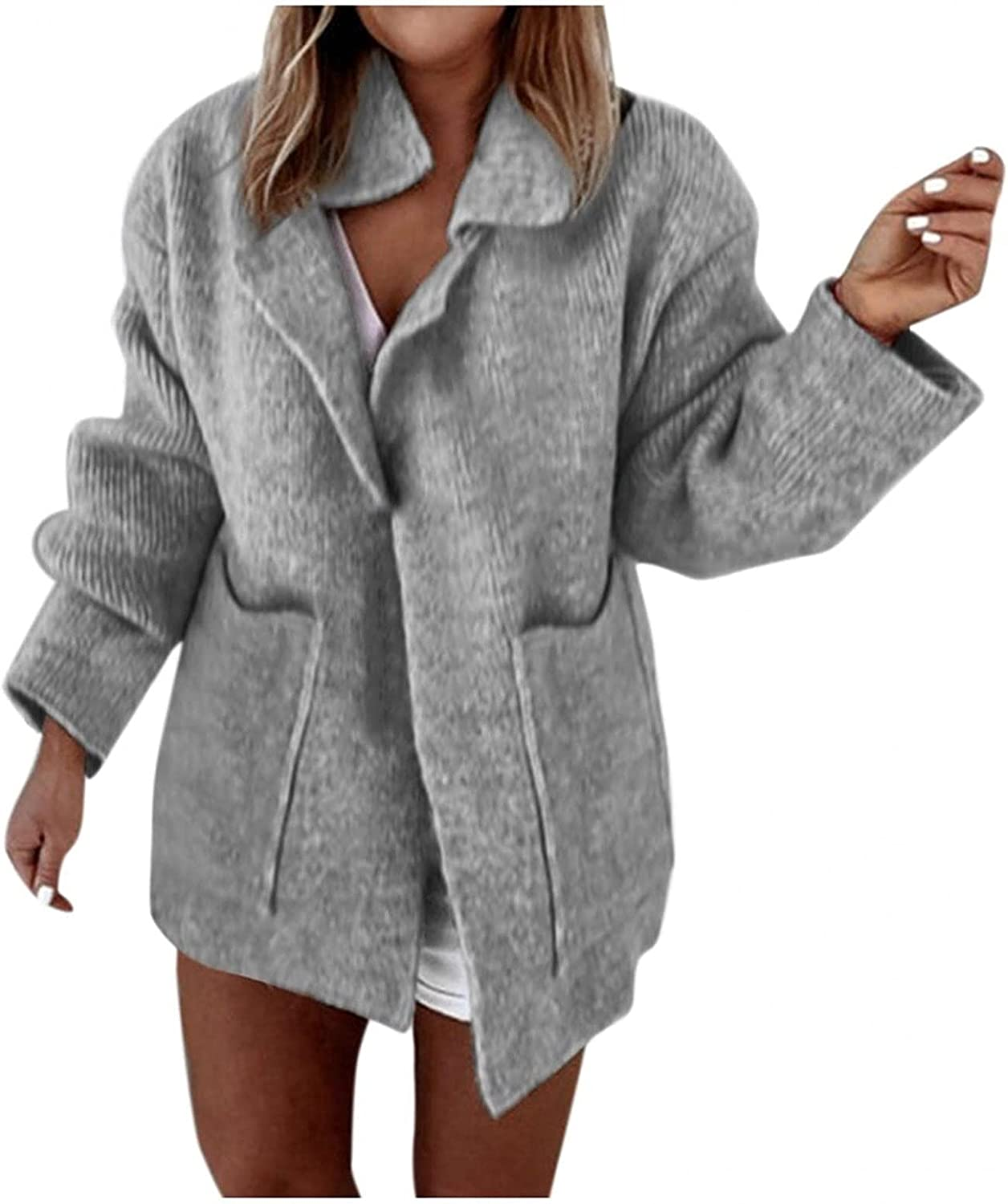 Kanzd Cardigan Sweaters wholesale for Women Directly managed store Fashion Long Boyfr Knit Sleeve