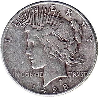 1928 S Peace $1 Fine