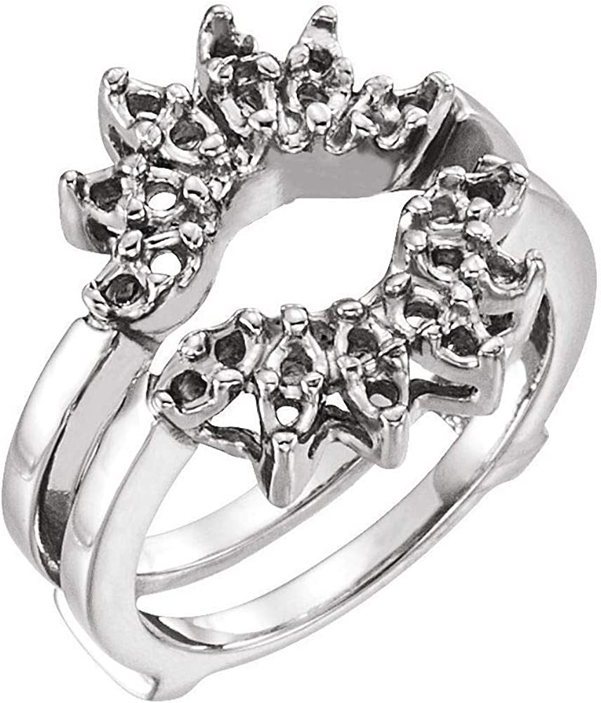 Baltimore Mall Solid Platinum Accented Ring Mounting Sale special price Guard Band
