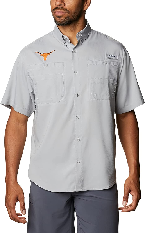 Columbia Men's Tamiami Short Sleeve Shirt, Tex - Columbia Grey, Medium