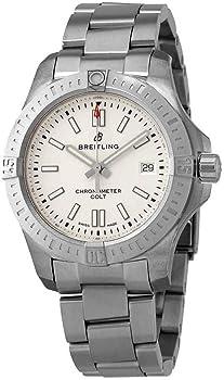 Breitling Chronomat Colt Automatic Chronometer Silver Dial Men's Watch