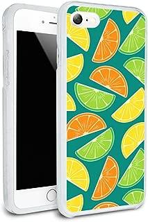 Citrus Lemon Lime Orange Slices Pattern Protective Slim Fit Hybrid Rubber Bumper Case for Apple iPhone 7 and 7 Plus