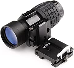 Bumlon Magnifying Scope 3X30mm Focus Adjustable with Flip up Mount Picatinny Weaver Rail
