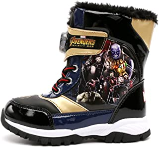 Avengers Infinity War Boys Light Up Winter Warm Black Snow Boots (Parallel Import/Generic Product)