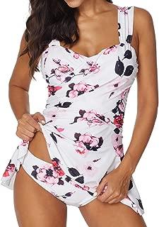 Hot!! Women Sexy Tankini Set With Boy Shorts GoodLock Ladies Fashion Bikini Set Push-Up Padded Bra Swimwear