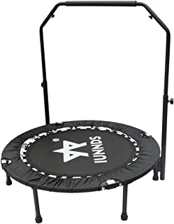 "KLB Sport 40"" Mini Foldable Trampoline with Adjustable Handrail for 5+ Child kids, Fitness Trampoline for Adult"