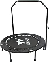 """KLB Sport 40"""" Mini Foldable Trampoline with Adjustable Handrail for 5+ Child kids, Fitness Trampoline for Adult"""