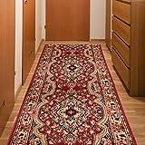 Tapis De Couloir Classique - Couleur Rouge Motif Oriental - La Qualité Au Meilleur Prix - Différentes Dimensions S-XXXL 70 x 250 cm
