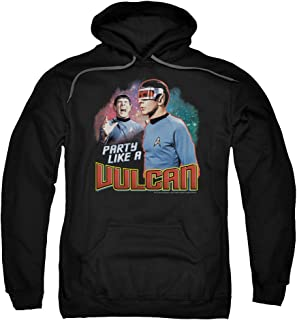 Star Trek Party Like A Vulcan Unisex Adult Pull-Over Hoodie for Men and Women