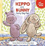 Hippo and Bunny Rainy Day Fun, Board Book for Babies and Toddlers, Lift the Flap Book for Early Learning