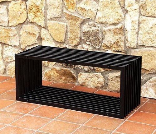 DanDiBo Banc D-Style Modern Banc de Jardin 11671 Banquette 100cm en métal Fer Banc à Fleurs