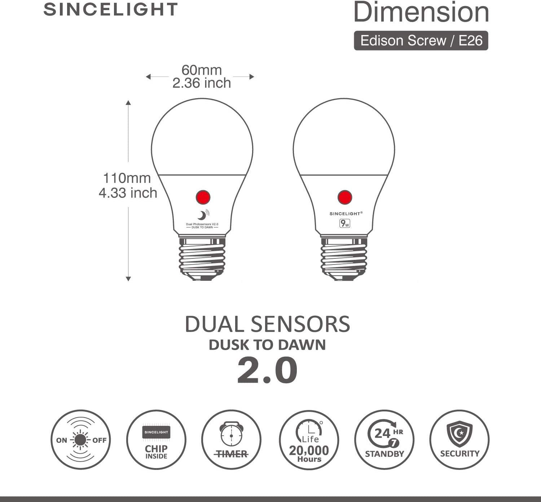 Amazon.com Dusk to Dawn LED Bulb with Dual Daylight Sensor · ON ...