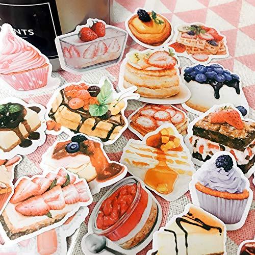 Doorschijnend papier Stickers Cake Ice Cream Gebak Notebook Dagboek Hand Account Decoratie Materiaal