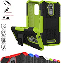 Zenfone 3 Max ZC520TL Case,Mama Mouth Shockproof Heavy Duty Combo Hybrid Rugged Dual Layer Grip Cover with Kickstand for ASUS Zenfone 3 Max ZC520TL(with 4 in 1 Packaged),Green