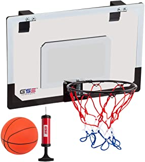 GSE Games & Sports Expert Over-The-Door Mini Basketball Hoop Backboard System with Basketball & Pump