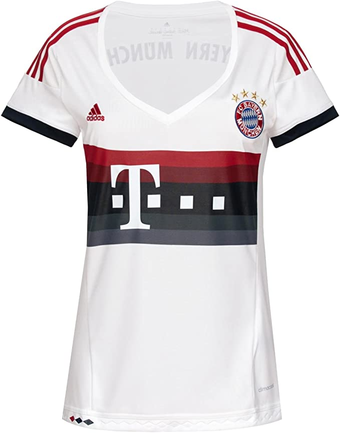 adidas, Maglia a Maniche Corte FC Bayern Bambino, con Frase Mia San mia sulla Schiena