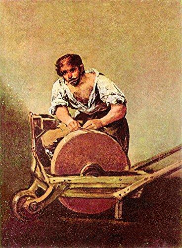 Het Museum Outlet - De molen van Goya, Stretched Canvas Gallery verpakt. 38 x 48 cm.