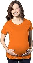 orange maternity shirt