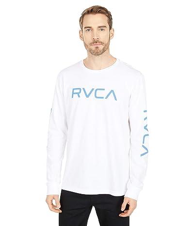 RVCA Big RVCA Long Sleeve (White/Blue) Men