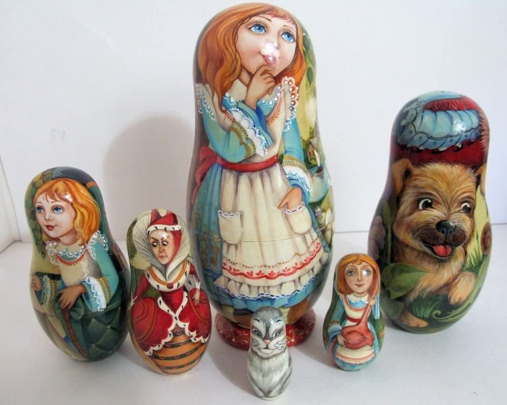5pcs Hand Painted Limited time cheap sale One of a Kind in Max 54% OFF Nesting Doll