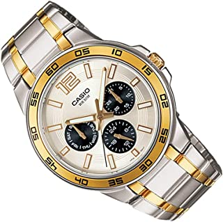 Mens Fashion Dress Luxory Style Watch Golden & Sliver MTP-1300-SG