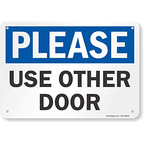 Please Use Back Door Sign Printable Wwwpicswecom