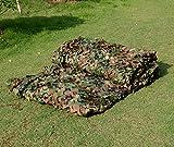 Red de camuflaje, 2x 3m, estampado militar, hojas, para acampadas y caza
