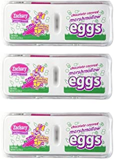 Zachary Chocolate-Covered Marshmallow Eggs (1 Doz) (Pack of 3)