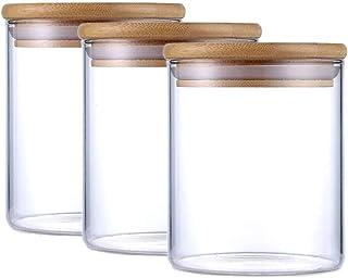 更硅酸盐玻璃罐、ガス密食品罐、圆形食品罐、香料、谷物、坚果、散茶、糖果、360毫升的パッケージ、3件