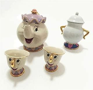 Ashland | Beauty and The Beast Teapot Mug, Mrs Potts Chip Tea Pot and Cup (Dark Khaki) Set