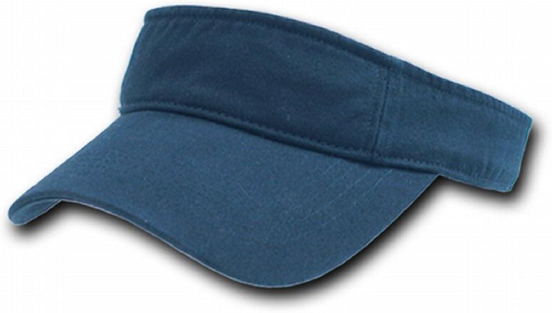 DECKY Orgianl Cotton Polo Visor - One Size - Navy -