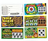 JA-RU Fake Lottery Ticket Scratch Tickets (5 Tickets / 1 Pack) Pranking Toys for Friend and Family Scratcher Jokes and Gag Winning Tickets Surprise. 1381-E