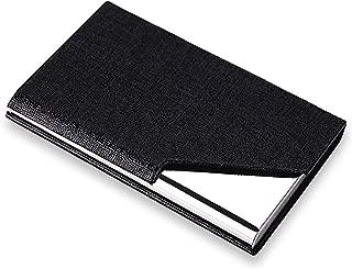rts Imported Card Holder, Steel Magnetic Case Credit/Debit/ATM/Visiting/Business Card Metal Wallet for Men & Women - Black
