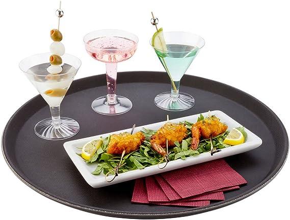 Rectanguar Drinks Tray Plastic Non Slip Waiter Serving Drinks Food 35x45cm