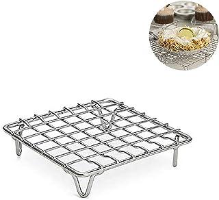 Malsyee Baking Tools Racks de cuisson en acier inoxydable Rack de cuisson Moule à gâteau Biscuit Drying Net Cooling