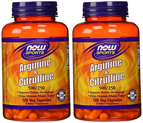Arginine & Citrulline 500/250mg - 120 Capsules (2 Pack)
