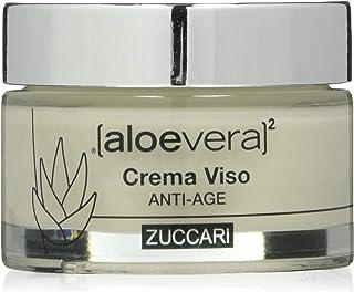 ZUCCARI Linea Aloe Vera X2 - Crema Viso Anti Age 50 Ml Acido Jaluronico E Q10