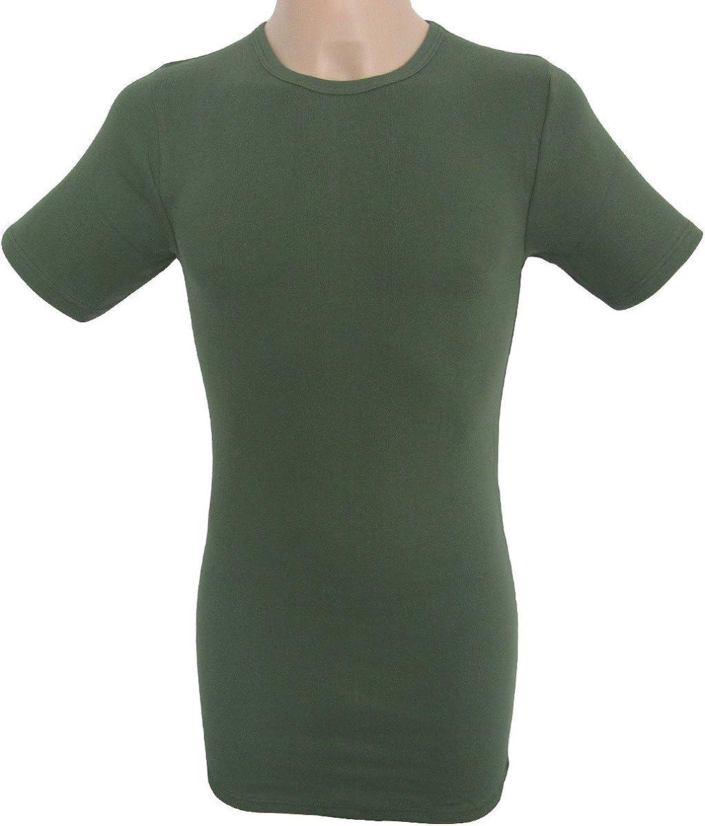 HERMO 3847-3 Business Shirts Homme /à Manche Courte Plus Long Maillot de Corps en 100/% Coton Biologique