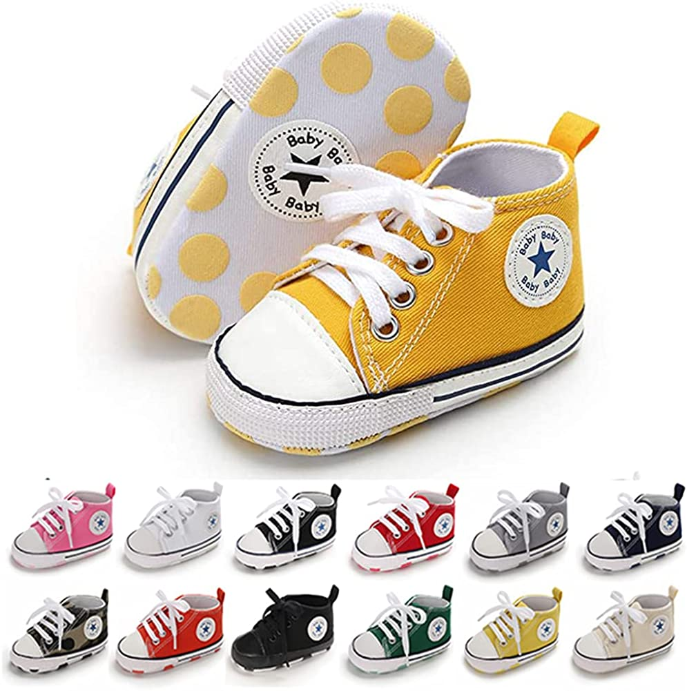 Baby Girls Boys Canvas Fort Worth Mall Shoes Soft Newborn Sole Infant Popular shop is the lowest price challenge Anti-Slip