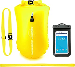 comprar comparacion LimitlessXme Boya De Natación Amarilla con Bolsa Seca Plus Bolsillo Impermeable Celular. Visibilidad y Seguridad al Nadar ...