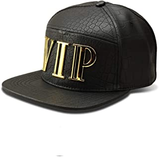 MADY 18K Gold Plated VIP/A/Dollar Grain Baseball Cap Men Women Adjustable Strapback