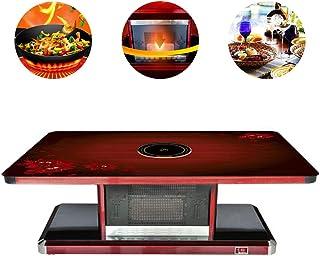 BLLJQ Mesa Calefactora Eléctrica Multifunción, Grandes Electrodomésticos, Calefacción, Electric Hob, Dining Desks Coffee Table,D