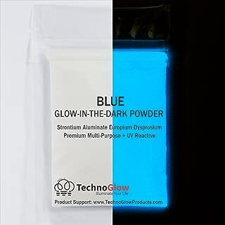 Blue UV/Glow in the Dark Pigment Powder - Medium 30-40 um-50g