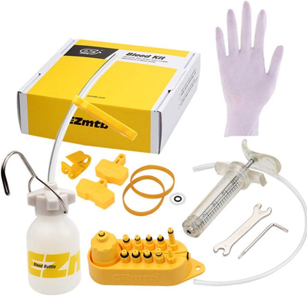 Kit de purga de freno de bicicleta, kit de purga de freno de disco hidráulico universal Juego de herramientas Kit de purga de aceite de freno de bicicleta for Shimano, for MAGURA