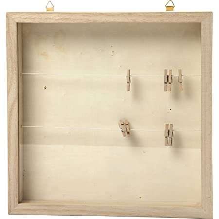 57453 Create Craft - Marco 3D con pinzas (23 x 23 cm), diseño de árbol de vaca