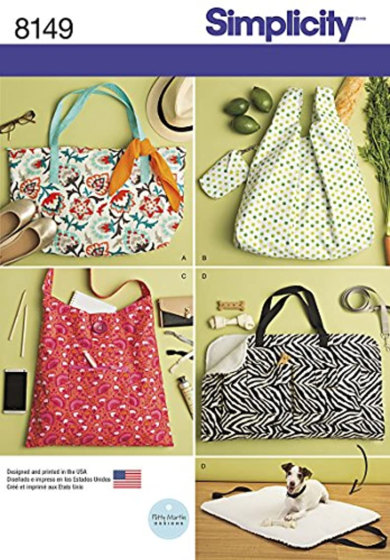 Simplicity Creative Patterns Simplicity Pattern 8149 Totes and Dog Travel Bed, Size: One Size (One Size)