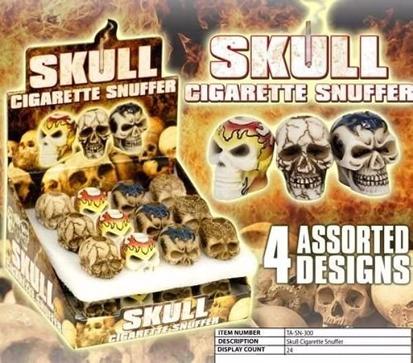 4 X Skull Cigarette Snuffer Assorted Designs