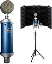 Blue Bluebird SL Large-Diaphragm Condenser Studio Microphone with Auray RF-5P-B Reflection Filter and RFMS-580 Reflection ...