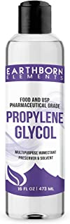 Propylene Glycol (16 oz.) by Earthborn Elements, 100% Pure, Food & Pharmaceutical Grade, Hypoallergenic Moisturizer & Skin Cleanser