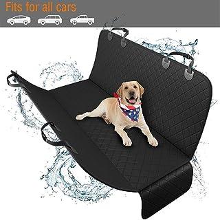 Pet Dog Cat Car Back Seat Cover Cushion Mat Protector, Waterproof Scratchproof Nonslip Folding Hammock for Pet, Against Di...
